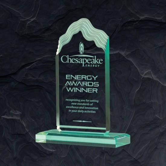 Wave -  Jade Acrylic Award